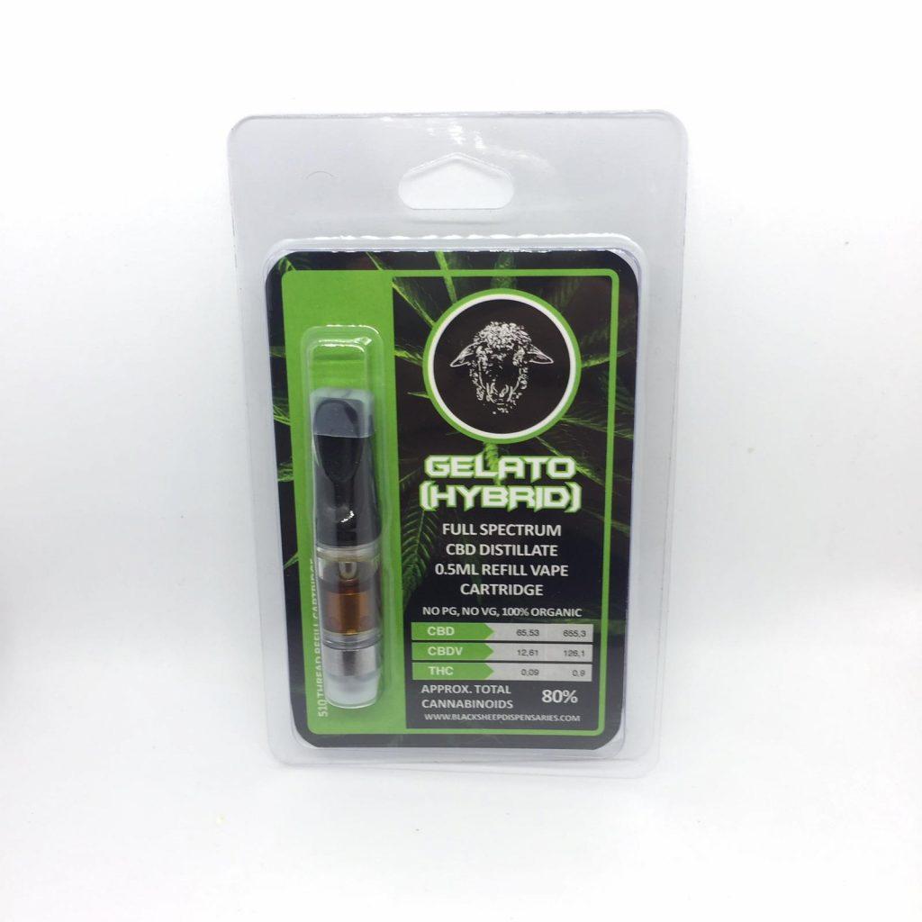 0 5ml Gelato 70% CBD Distillate Vape Cartridge